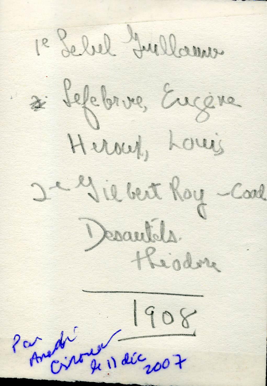 Noms des prêtres en 1908