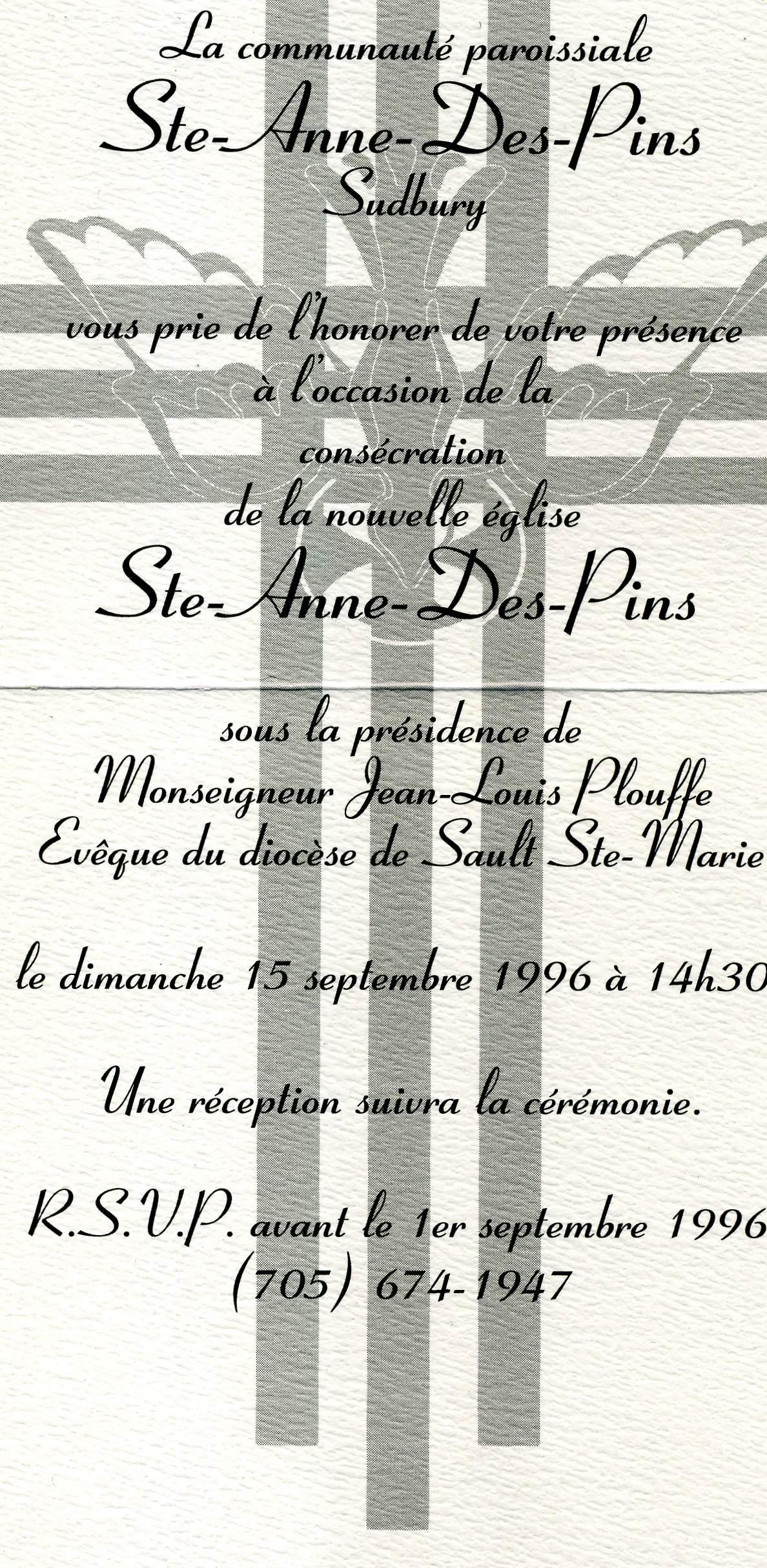 Invitation en 1996
